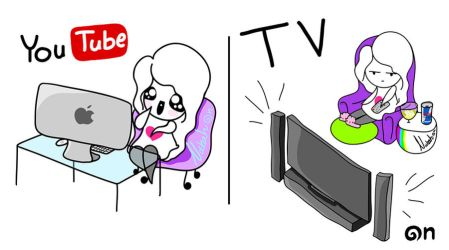 .. Comics -15- TV and YouTube .. by nurah-at-n