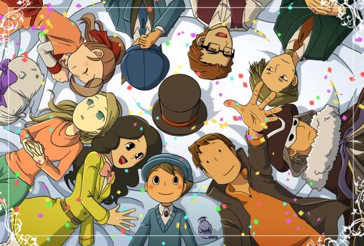 The 10th anniversary of Professor Layton by maki5656