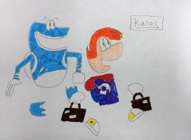 Rayman and Globox head to Kalos by SuperSmash6453