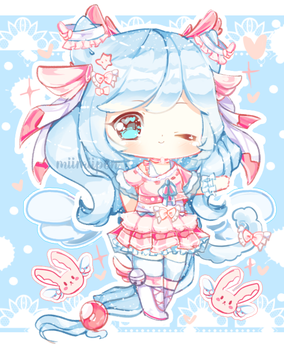 Winged Neko Adoptable AUCTION (OPEN) by miimiipon
