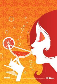 Cocktail Girl Retro Style by Coolgraphic