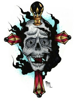 Skull and Cross by MrksLrsn