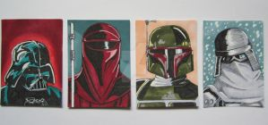 Star Wars ATCs #1 by BlackCorset