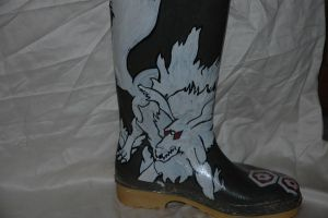 Inuyasha wellington-left boot by Caranth