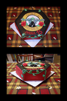 Guns and roses birthday cake by lefiath