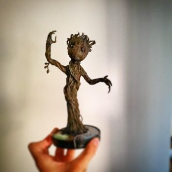 Baby Groot hot glue sculpture by HIPPOPOTOMONSTROSES1