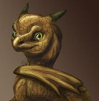 Bronze dragon by umbbe
