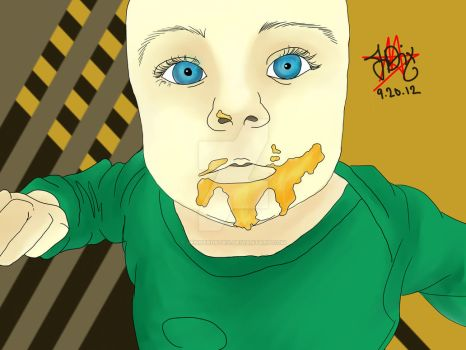 My Son Eating by Jennerdstro