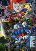 Transformers City of Fear Poster by Clu-art