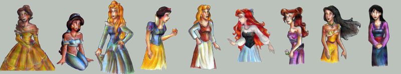 Disney Princessishes by bachel by lilmermaid-club