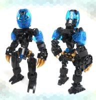 Moc. Matoran Bokko the gold tracker by Darkraimaster99