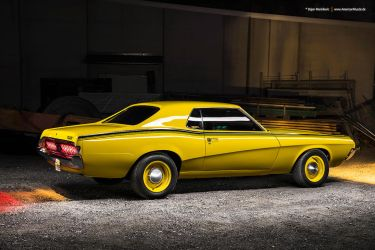 yellow 1970 Mercury Cougar by AmericanMuscle