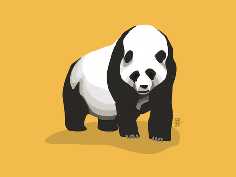 Giant Panda by digitalchet