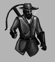 Eyepatch Crossbow guy by Germille