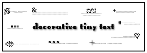 Decorative Tiny Text 1 by Rauvinne
