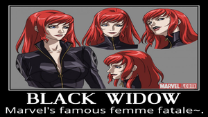 Black Widow Motivational Poster 2 by slyboyseth