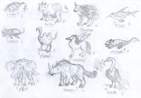 Mixed animalcreatures by marsu305