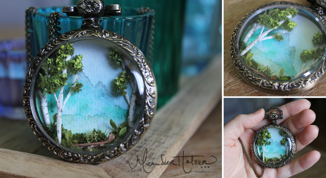 Pocket Watch Forest by MeandrousArt
