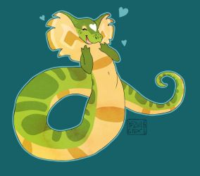 cutest snake lady by Kazulgfox