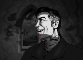 Dracula in His Castle by whyaduck