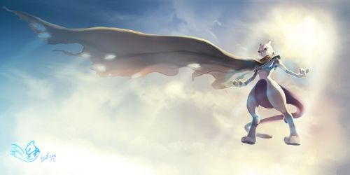 Cape Mewtwo by elyoncat