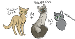 Warrior Cats OC redesigns by Maretack