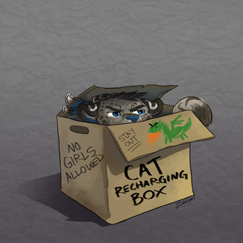 Cat Recharging Box by zhivagooo
