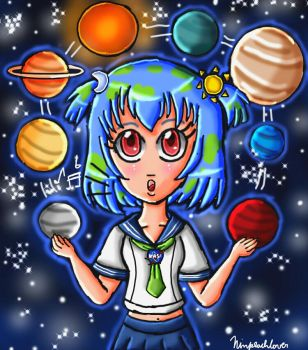 Earth-chan by ninpeachlover