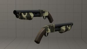 Woodland Stock Shotgun [DL] by Nikolad92