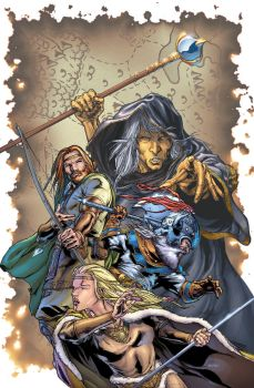 Dragonlance cover by BlondTheColorist