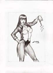 ZATANNA, CARD COMMISSION A4 by carlosbragaART80