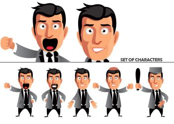 Set of characters by n2n44studio