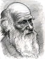 Charles Darwin by Caricature80