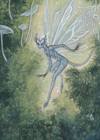 ACEO commission Sparkling Fairy by thedancingemu