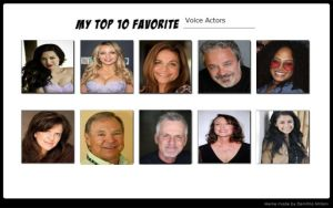 My Top 10 Favorite Voice Actors by magmon47