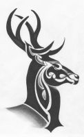 Tribal Deer by ltatt2