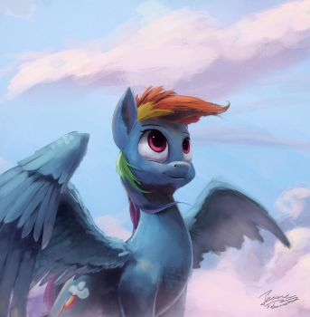 On clouds by InsaneRoboCat