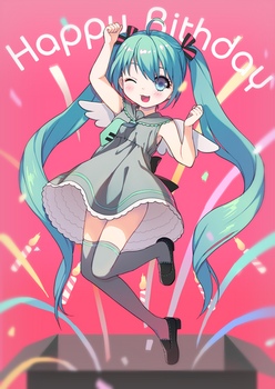 Hatsune Miku by loli-drop