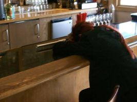 Passed out at the Bar by FlareStone