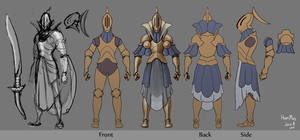 Knight Orthographic by KidneyShake