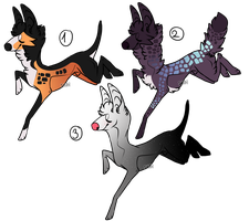 Canine Adoptables - [OPEN LOWERED] by NorthernUrsus