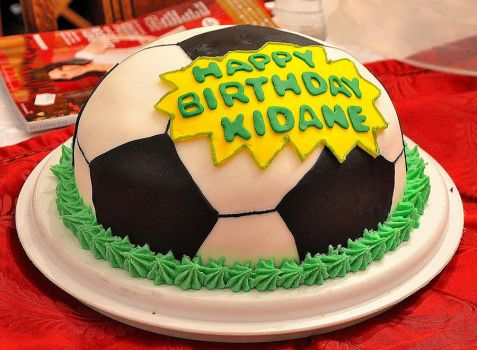 Football/Soccer Cake :) by the-hermit-crab