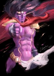 Star Platinum sketch paint by ZakuraRain