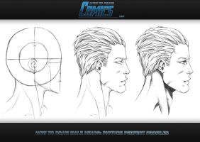 How to Draw Heads - Male Profile by ClaytonBarton