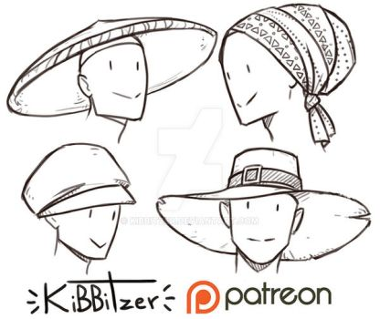 Hats reference sheet 2 by Kibbitzer