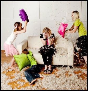 Pillow fight by TimelessImages