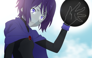 Young Raven Anime [Teen Titans][Wallpaper] by sgcassidy