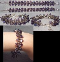 Purple Dragon Spine Bracelet by wickedorin
