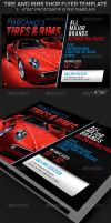 Tire and Rims Shop Flyer Template by Godserv