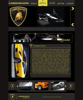 Lamborghini Web Interface by NamfloW